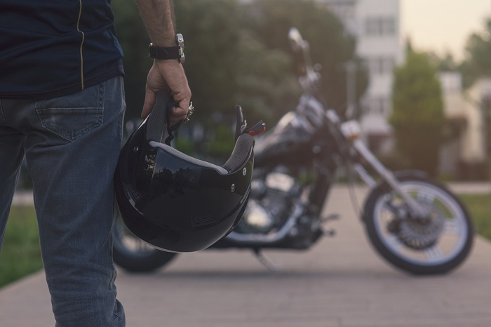 Profile of Motorcycle Rider